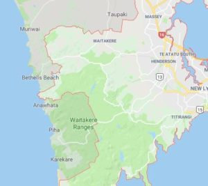West Auckland Map